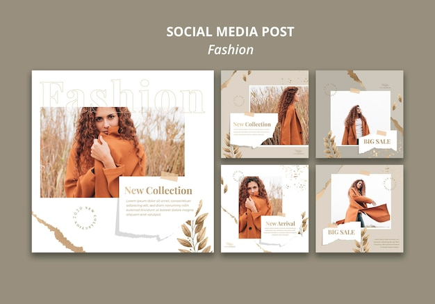 Fashion store social media post template