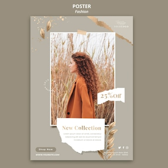 Fashion store template poster
