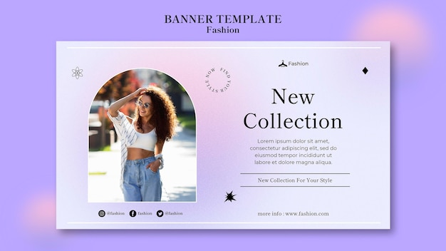 Fashion and style banner template