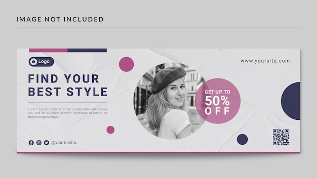 Fashion style facebook cover and web banner template
