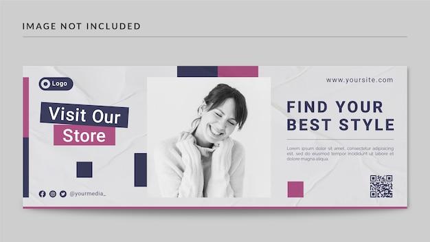 时尚风格Facebook封面和Web横幅模板