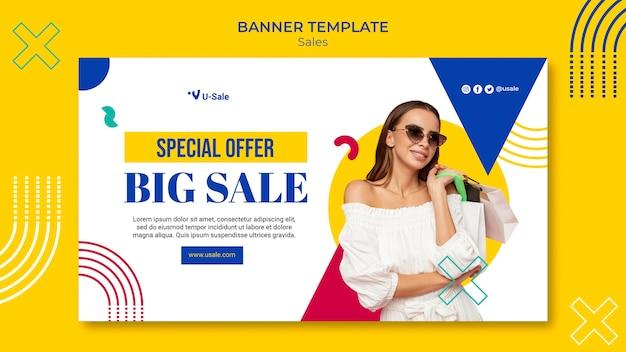 Modello di banner super vendita di moda