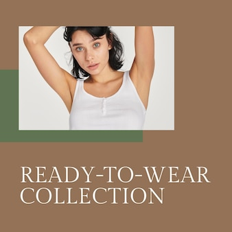 Fashion template psd for ready to wear collection