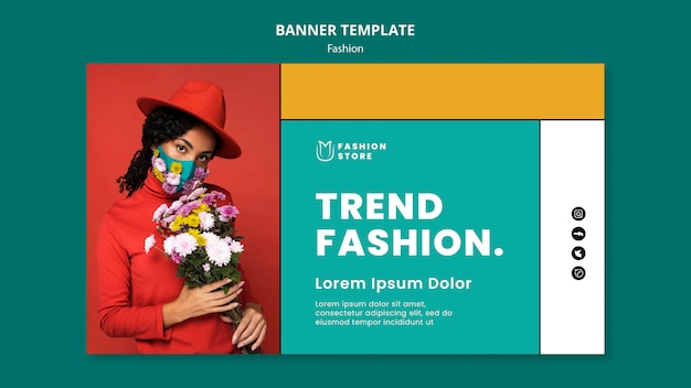 Fashion trends banner template