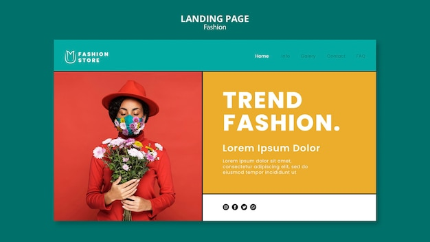 Fashion trends landing page