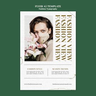 Modello di volantino di moda tipografia