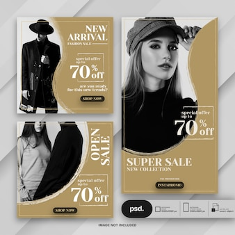 Fashion web banner social media template