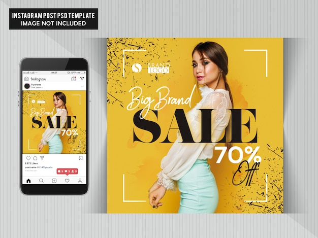 Fashion web banner for social media