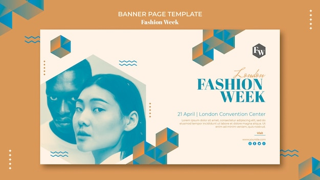 Fashion week banner template style