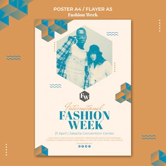 Шаблон флаера недели моды