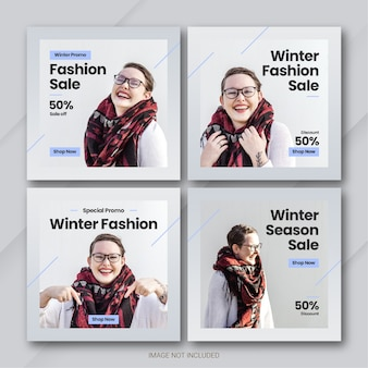 ファッションウィンターセールinstagram投稿バンドルテンプレート