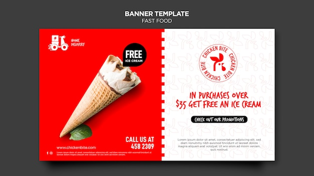 Fast food ad template banner