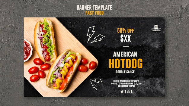 Fast food banner template style