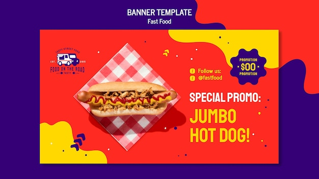 Fast food banner template