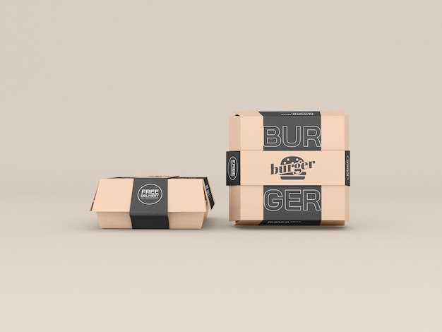 Fast food containers mockup