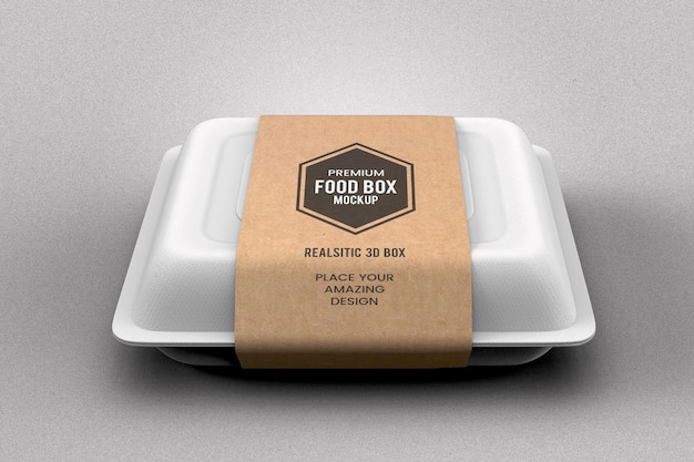 Fast food delivery box mockup