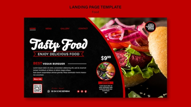 Fast food landing page template