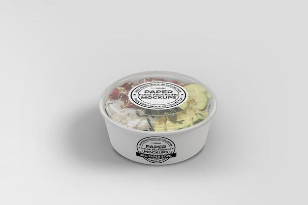Fast food packaging box mockup