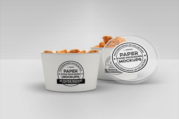 Fast food packaging mockup