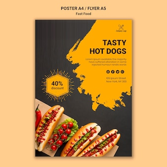 Fast food poster template