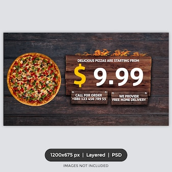 Fast food promotion facebook cover