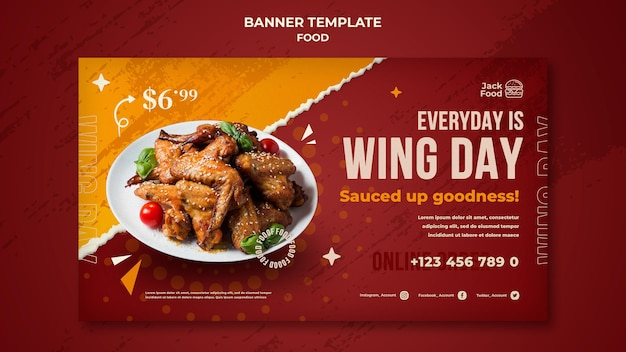 Fast food restaurant banner template