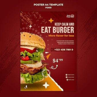 Шаблон печати ресторана быстрого питания