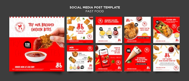 Fast food social media post template