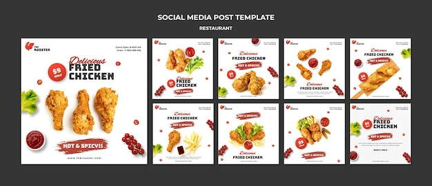 Fast food social media posts