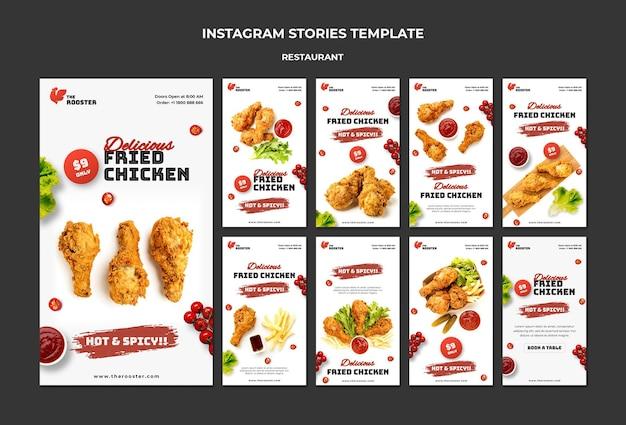 Fast food social media stories