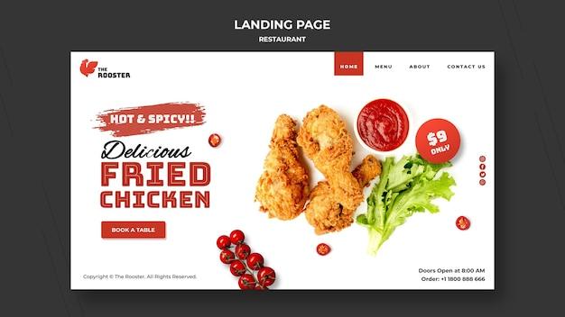 Fast food web template