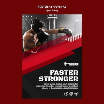 Faster stronger flyer print template