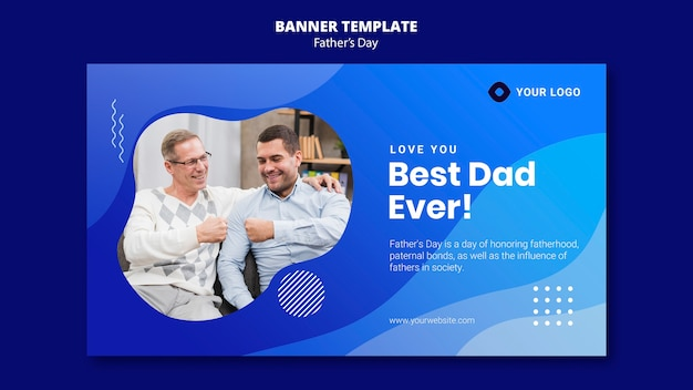Father's day banner template
