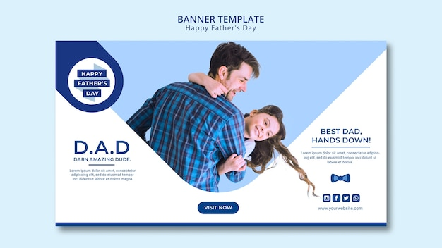 Father's day creative banner template