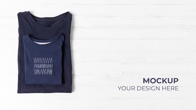 Father's day t-shirt mock-up assortment