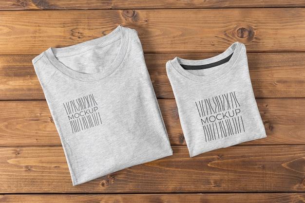 Assortimento mock-up di magliette per la festa del papà