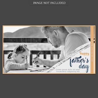 Fathers day banner cover mockup