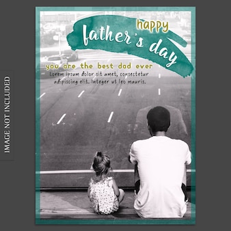 Fathers day cover mockup at road