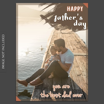 Fathers day cover mockup at water
