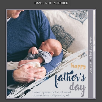 Fathers day cover mockup with baby