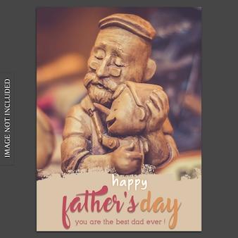 귀여운 동상으로 아버지의 날 표지 이랑