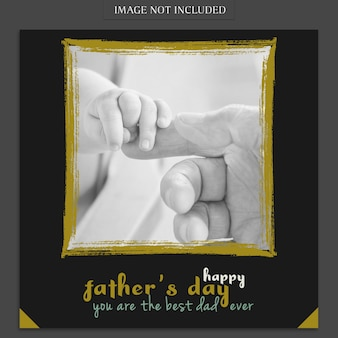 Fathers day cover mockup with hands