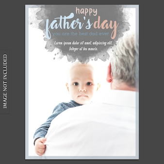 Fathers day cover mockup with image