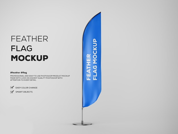 Feather flag mockup - front view