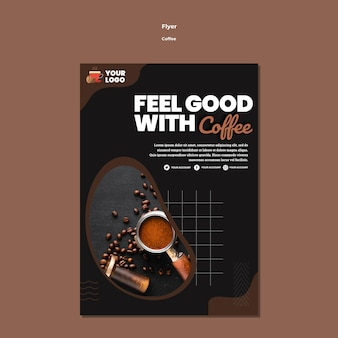 Feel good with coffee flyer template