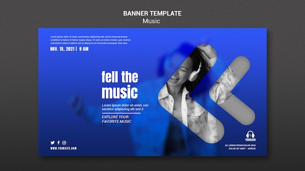 Feel the music banner template
