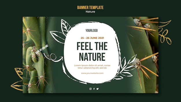 Feel the nature event banner template Free Psd