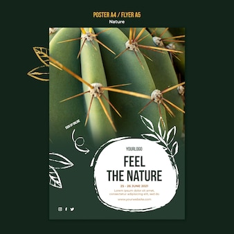Feel the nature event flyer template