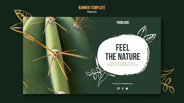 Feel the nature event horizontal banner template