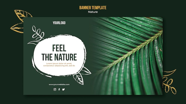 Feel the nature event horizontal banner